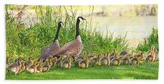 Canadian Geese Family Bath Towel