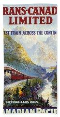 Canadian Railroad Poster Bath Towel