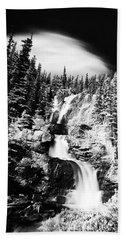 Canadian Waterfall In Summer Bath Towel