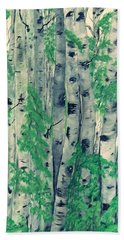 Hand Towel featuring the painting Canadian White  Poplar by Sharon Duguay