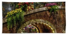 Canal And Bridge  Hand Towel