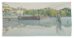 Bath Towel featuring the photograph Canal In Pastels by Everet Regal