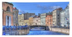 Canal In St. Petersburgh Russia Hand Towel