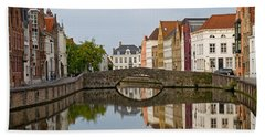 Canal Reflections Hand Towel