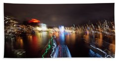 Canal Streaking Abstract Hand Towel