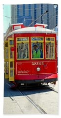 Canal Street Cable Car Bath Towel