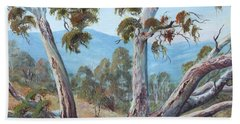 Hand Towel featuring the painting Canberra Hills by Ryn Shell