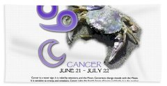 Cancer Sun Sign Hand Towel by Shelley Overton