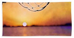 Cancun Sunset On The Lake Hand Towel