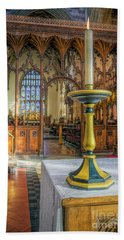 Bath Towel featuring the photograph Candle Of  Prayer by Ian Mitchell