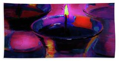 Candlelight Celebration Night By Lisa Kaiser Hand Towel
