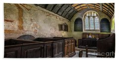 Bath Towel featuring the photograph Candles In Old Church by Adrian Evans