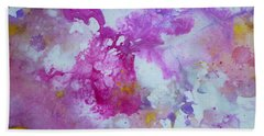 Candy Clouds Bath Towel by Tracy Bonin