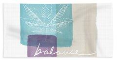 Cannabis Leaf Watercolor 3- Art By Linda Woods Bath Towel by Linda Woods