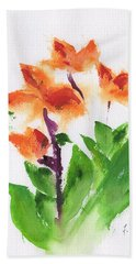 Cannas Abstract Bath Towel