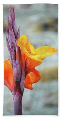 Cannas Hand Towel by Terence Davis