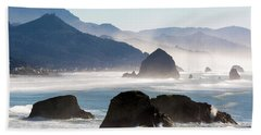Cannon Beach On The Oregon Coast Hand Towel