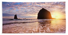 Cannon Beach Sunset Classic Hand Towel