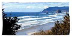 Cannon Beach Vista Hand Towel by Will Borden