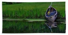 Canoe Reflection Bath Towel