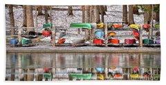 Canoe Reflections Bath Towel