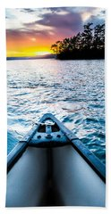 Canoeing In Paradise Hand Towel