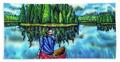 Canoeing Ontario Bath Towel