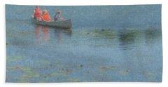 Canoes On Shovelshop Pond Hand Towel