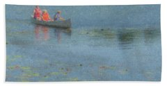 Canoes On Shovelshop Pond Hand Towel