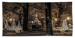 Canopy Of Christmas Lights Hand Towel