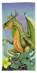 Bath Towel featuring the digital art Cantaloupe Dragon by Stanley Morrison