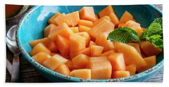 Cantaloupe For Breakfast Hand Towel