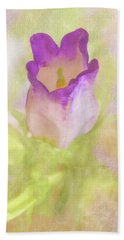 Canterbury Bell Flower Painted Bath Towel