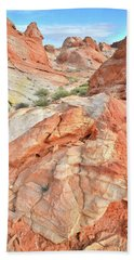 Canyon Color In Valley Of Fire Hand Towel by Ray Mathis