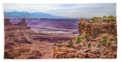 Bath Towel featuring the photograph Canyon Landscape by James Woody