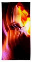 Antelope Canyon Light Curves   Hand Towel