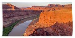 Canyon Of Colorado River - Sunrise Aerial View Bath Towel