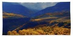 Canyon Shadows And Light From Last Dollar Road In Colorado During Autumn Hand Towel by Jetson Nguyen