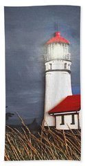 Bath Towel featuring the relief Cape Blanco Glow by Wendy McKennon