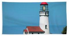 Cape Blanco Lighthouse At Cape Blanco, Oregon Bath Towel