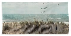 Cape Cod Beach Scene Hand Towel