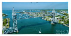 Cape Cod Canal Suspension Bridge Bath Towel