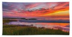 Cape Cod Skaket Beach Sunset Hand Towel