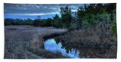 Cape Fear Tide Pool Hand Towel by Phil Mancuso