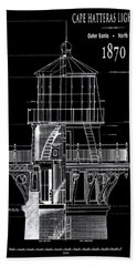 Cape Hatteras Lighthouse Engineering Drawing 1869 Hand Towel