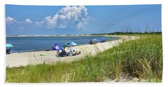 Cape Henlopen State Park - Beach Time Bath Towel by Brendan Reals