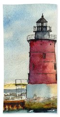 Cape Henlopen Inner Wall Lighthouse Bath Towel