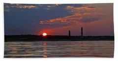Cape Henry Sunset Hand Towel