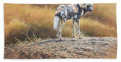 Cape Hunting Dog Hand Towel