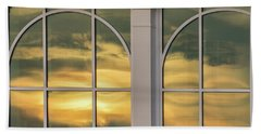 Cape May Abstract Sunset Reflection Hand Towel by Gary Slawsky